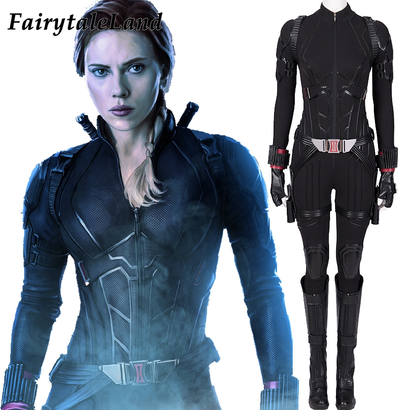 Avengers Endgame Black Widow Cosplay Costume Halloween Women Costumes Avengers 4 Natasha Romanoff Costume Black Widow Jumpsuit