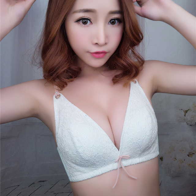 New arrival sexy lace bra brief set small wire free women Lolita girls bra set sexy woman push up underwear set three colors