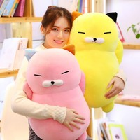 60cm Kawaii Soft Cat Plush Toys Stuffed Cute Cat Doll Lovely Animal Pillow Soft Cartoon Cushion Kid Christmas Gift