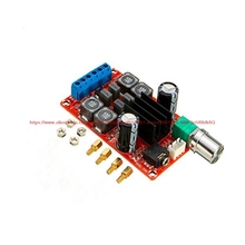 купить XH-M189 2*50W high-end digital amplifier board DC24V TPA3116D2 dual-channel stereo amplifier board дешево