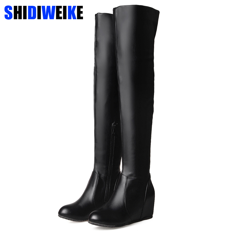 Women Boots Height Increasing Over the Knee Boots for Women Autumn Winter High Boots Women Red White Black Thigh High Boots n279