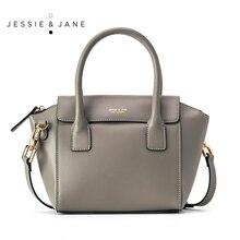 JESSIE & JANE Designer Marke Neue Stil Frauen Ledertasche Fashion Trapeze Bags Top-Griff Tasche Umhängetaschen 1081