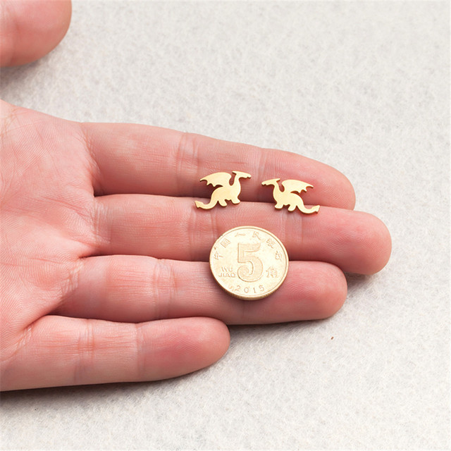 Small Cute Stud Dinosaur Earrings For Women