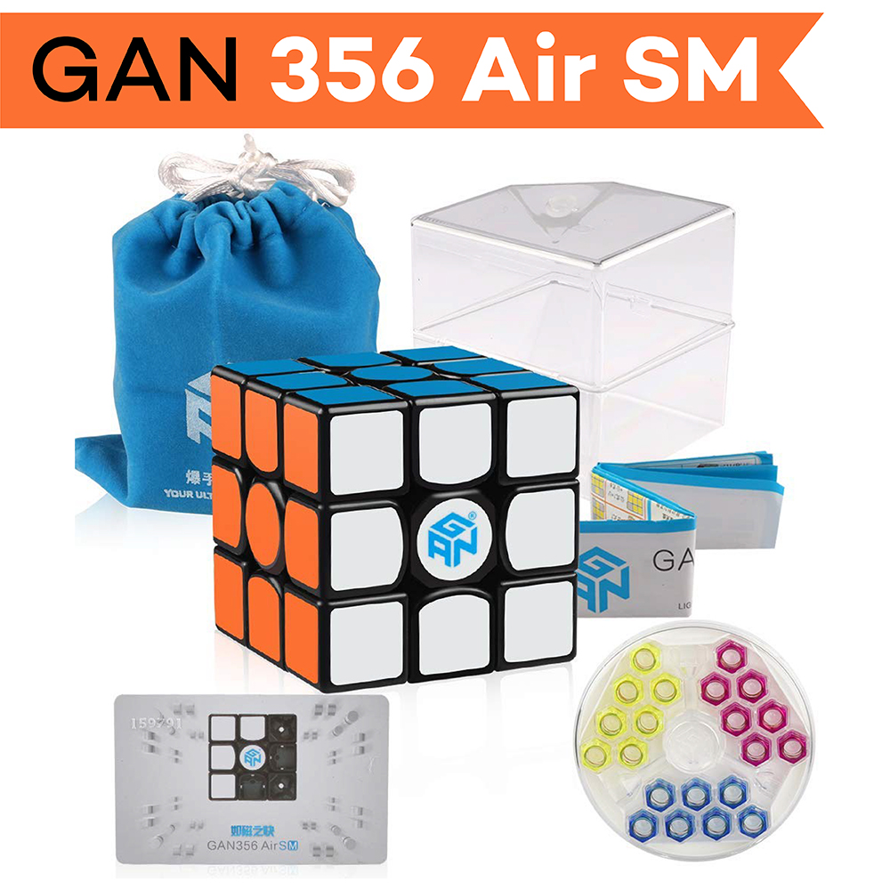 D-fantix Gan 356 Air SM Magnétique Cube Gan356 3x3x3 Gans Cube Vitesse 3x3 Puzzle Jouets pour La Compétition Professionnelle