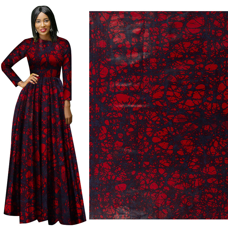 Me-dusa 2019 Latest Multi color African Print Wax Fabric 100% cotton Hollandais Wax DIY Dress Suit cloth 6yards/pcs High quility(China)