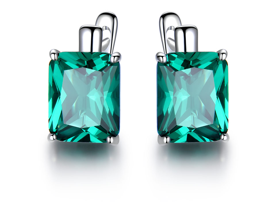 UMCHO-Emerald-925-sterling-silver-clip-earrings-for-women-EUJ083E-1-PC_02