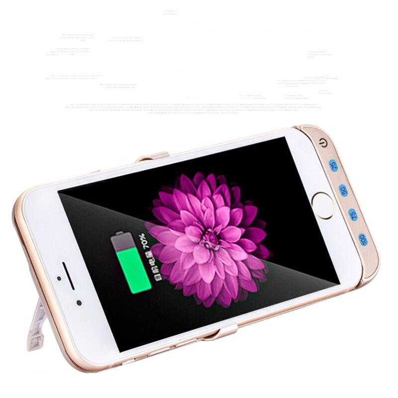 imágenes para Para iphone7 ip7 caja de batería del portable delgado iphone cargador de batería móvil protectora caso de carga (4.7 pulgadas) 10000 mah banco de la energía