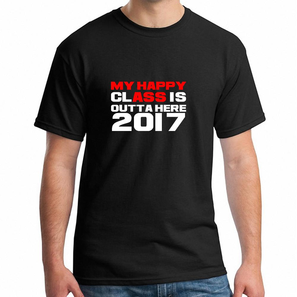 Design t shirt for class - Animation Around T Shirt My Happy Class Is Outta Here Class Of 2017 Newest Cool T Shirt Design Printed Summer Men S T Shirt