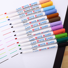 12 colors whiteboard marker pens easy erasing colorful marker school & office student stationery supplies(China)