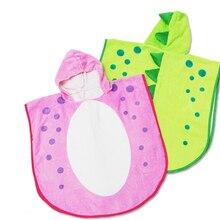 3 цвета-синий, зеленый и розовый пятно динозавр Dino Детское Пончо/Детская куртка с капюшоном детская, банное полотенце с капюшоном, Детские пляжные полотенца/Детское Пончо