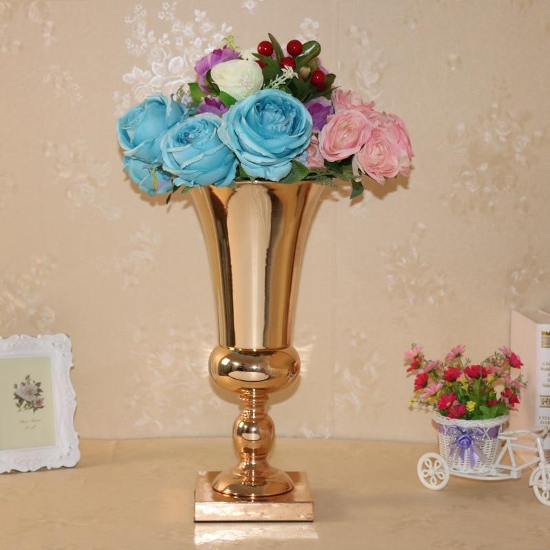 Metal Wedding Flower Vase Gold Flower Stand Wedding Decoration Table
