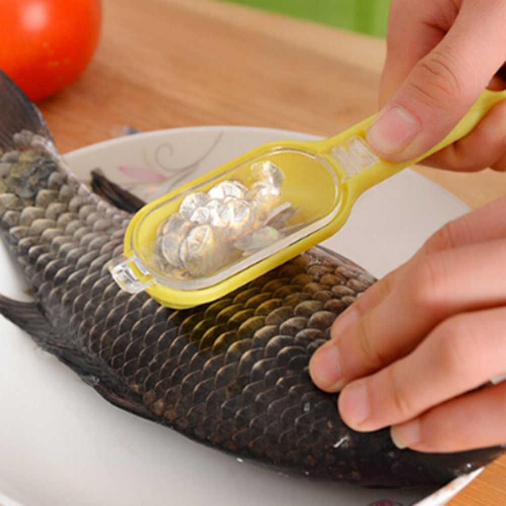 Portatile Scale di Pesci Della Pelle di Rimozione Scaler E Coltello Veloce Per Pulire il Pesce Della Pelle In Acciaio Raschietto di Plastica Utensili Da Cucina Pulito Peeler Strumento