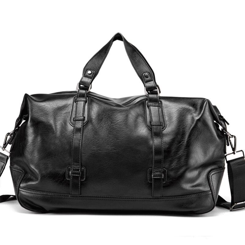 Image 3 - Men Handbag Leather Large Capacity Travel Bag Fashion Shoulder  Bag Male Travel Duffle Tote Bag Casual Messenger Crossbody BagsTravel  Bags
