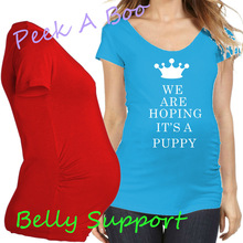 European American Plus Size Summer Women Apparel Pregnancy font b Maternity b font T Shirt Crown