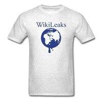 참신 디자인 t 셔츠 남성 wikileaks 떨어