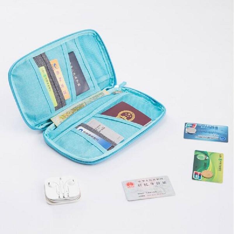 Passport Storage Bag Travel Functional Bag Portable Passport Holder Document Organizer Credit Card ID Card Cash Holder