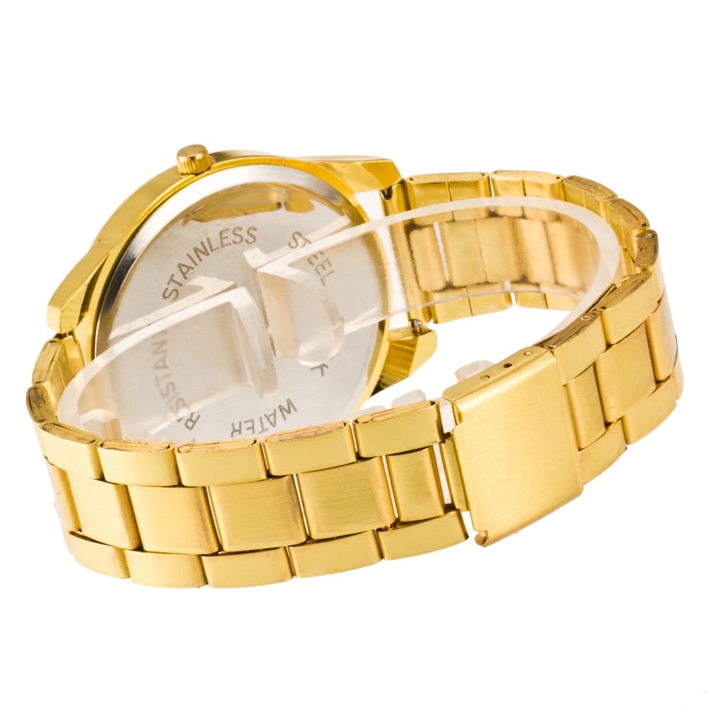 Yeni Moda Klasik İzle Kadınlar Lüks Kristal Paslanmaz Çelik - Kadın Saatler - Fotoğraf 6