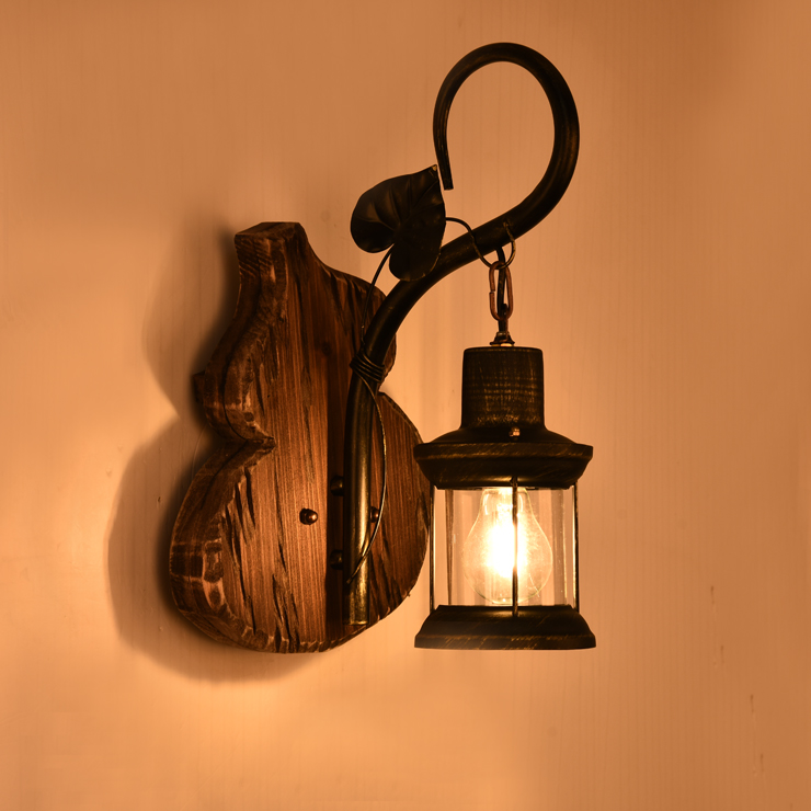 American retro Wall Lamps industrial iron lantern bar diffuse Cafe creative personality antique ship wood wall light LU71366 -YM european creative personality retro nostalgic american country antique wrought iron wall sconce mediterranean diffuse gy309