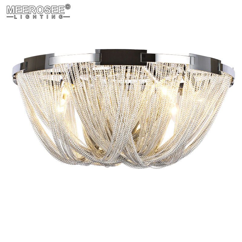 French Empire Chain Chandelier Light Fixture Flush Mounted Lamp Chain Light for Living room Hotel Project