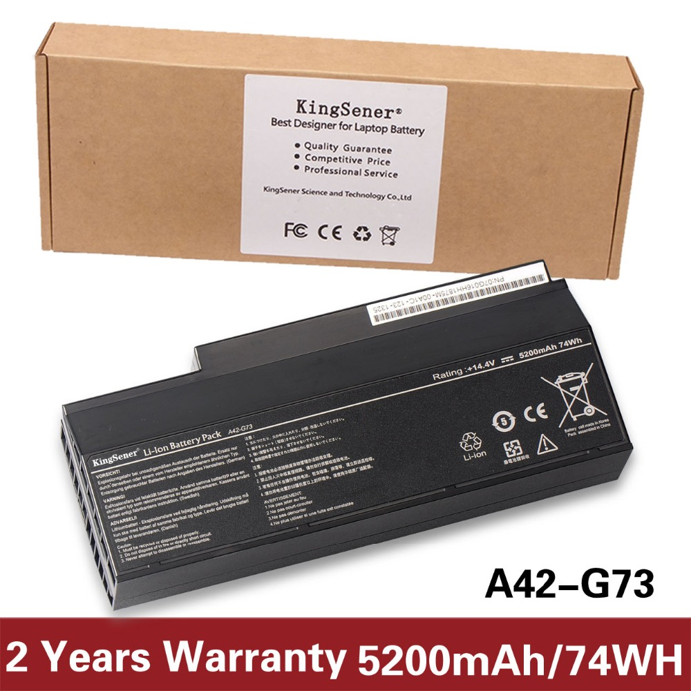 Korea Cell KingSener New A42-G73 Laptop Battery for ASUS G73 G73J G73JH G73JQ G73JW G73JX G53 G53S G53J G53JW 14.4V 5200mAh