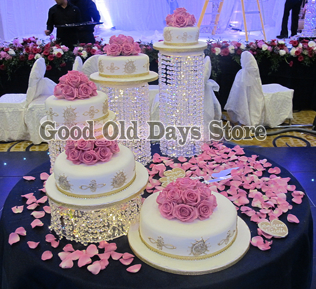 4pcs Crystal wedding cake Asian wedding cake stand Banquet Party Cake Display Birthday Decoration Wedding Cake cupcake display