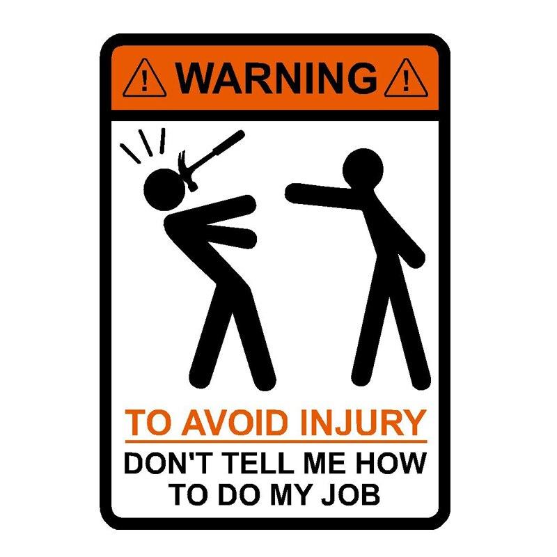 Avertissement: Pour éviter les blessures. ne me dites pas comment faire mon travail! vintage tin signes rétro métal plaque le mur décoration pour bar café