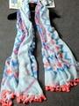 180*100 Summer Style Simple Design Mori Girl Scarves&Shawls For Women Tassel Stripe Foulard Brand Pashmina Wholesale Accessory