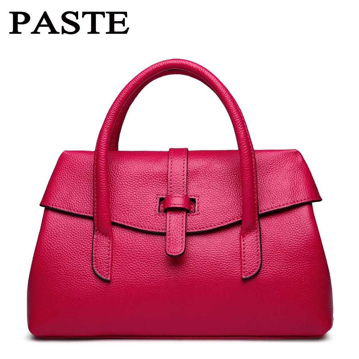 Women Genuine Leather Handbags Small Messenger Bag Elegant Design Beige white Black Hot pink orange 5p0303