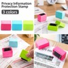 3 Colors Safe Roller Stamper Identity Theft Protection Security Stamp Seal Self Guard ID 1
