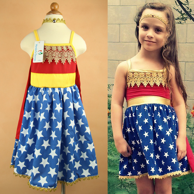 Aliexpresscom  Buy Retail Baby Girls Dress Wonder Woman -7778