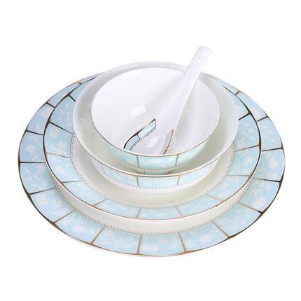 Европейский костяного фарфора посуда набор фарфор миски Детские Западная набор обеденных тарелок Блюдо чаша ложка дома кухня еда контейне...
