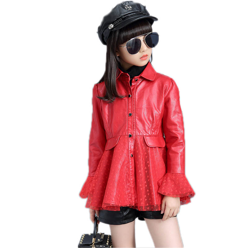 Girls Outwear 2018 Kids Clothes Jackets for girls Spring Girls Coats and Jackets Children Clothing Fashion Girls Leather Jacket girl winter coats 2018 cat printing and jackets kids outwear warm down jacket girls clothes parkas children baby girls clothing