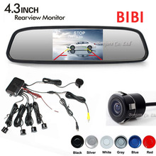 Koorinwoo Dual Core CPU 4 Parking Sensors Car mirror monitor TFT Reverse Rear View font b