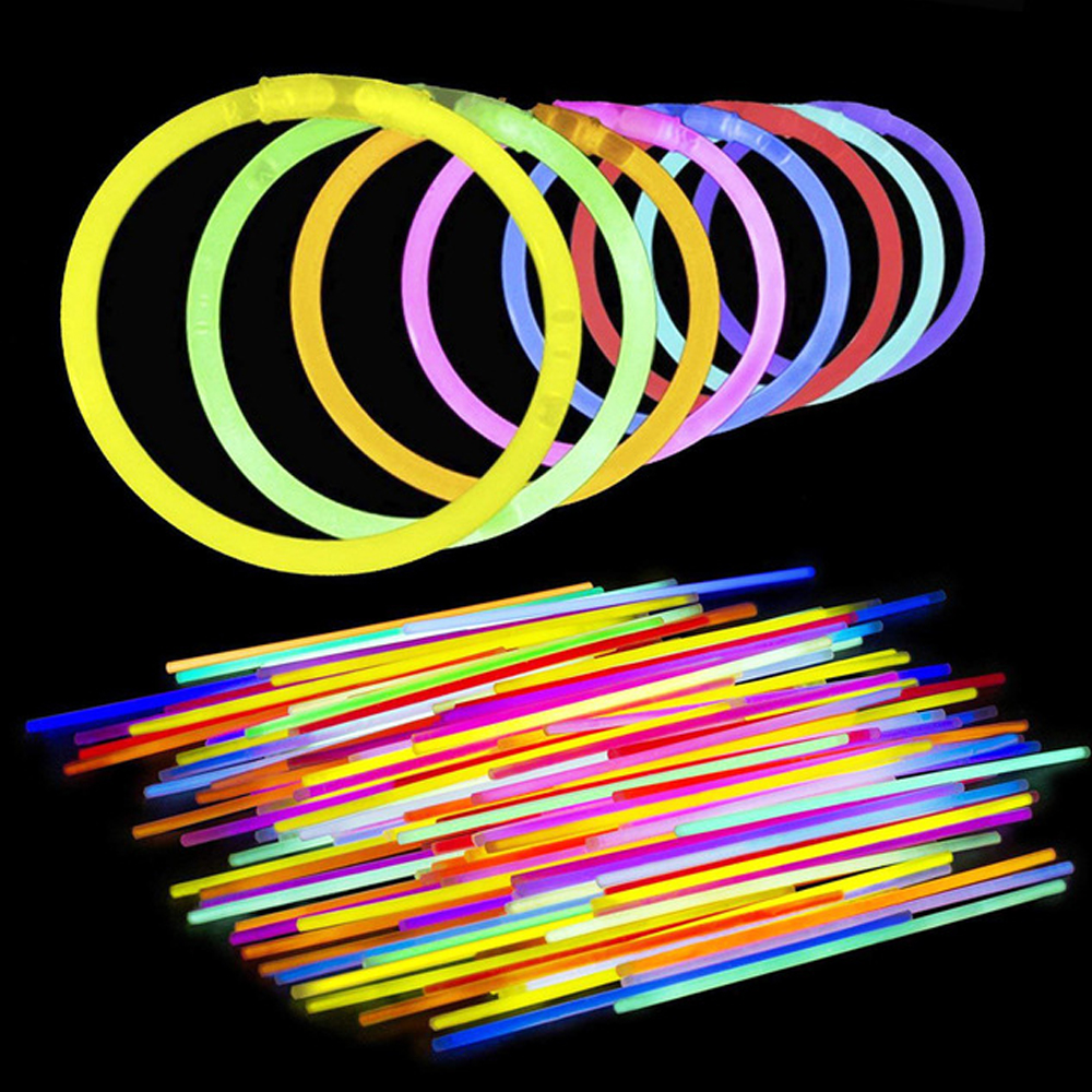 Halloween Safe Light Stick Fluorescence Glow Sticks Necklace Bracelets Luminous Toys For Party Holiday Xmas Gifts