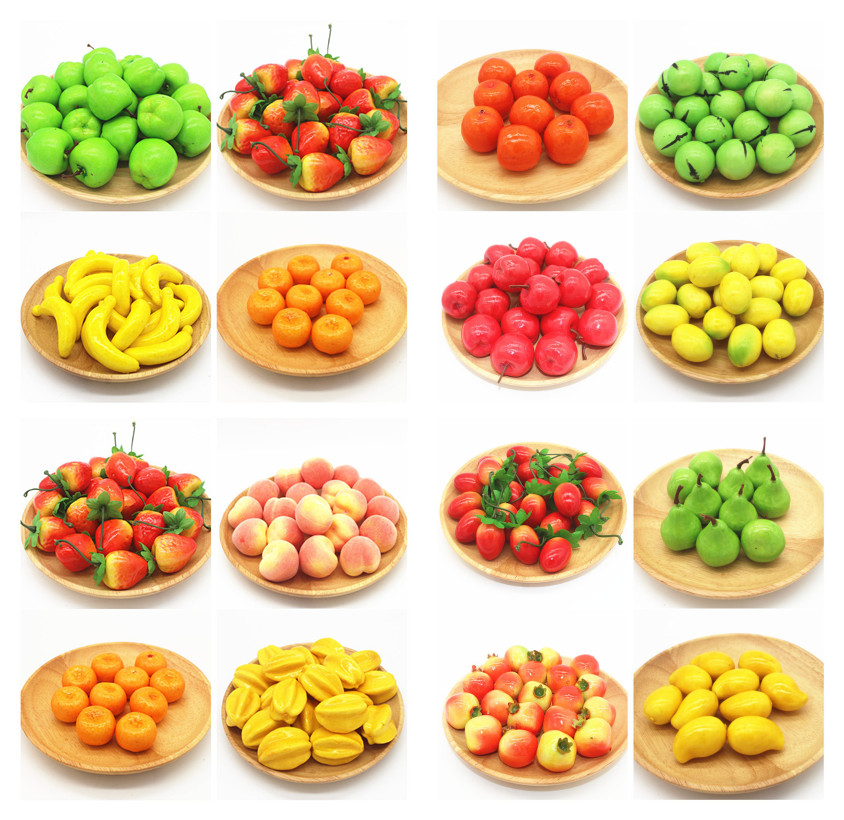 Artificial mini foam fake fruit model teaching photography for Artificial fruit for decoration
