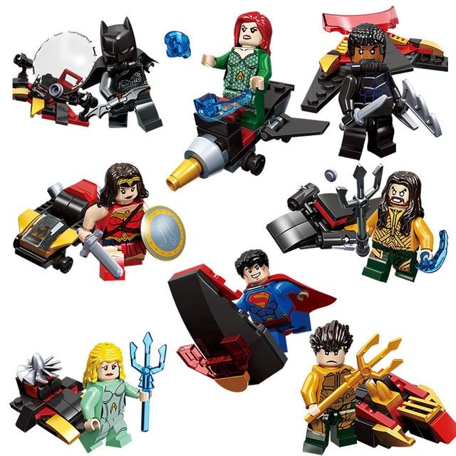 Manta ray 8 pcs Marvel superhero Preto lutador Modelo de Blocos de Construção de mini figuras de ação Para Crianças presentes brinquedos de Coleta