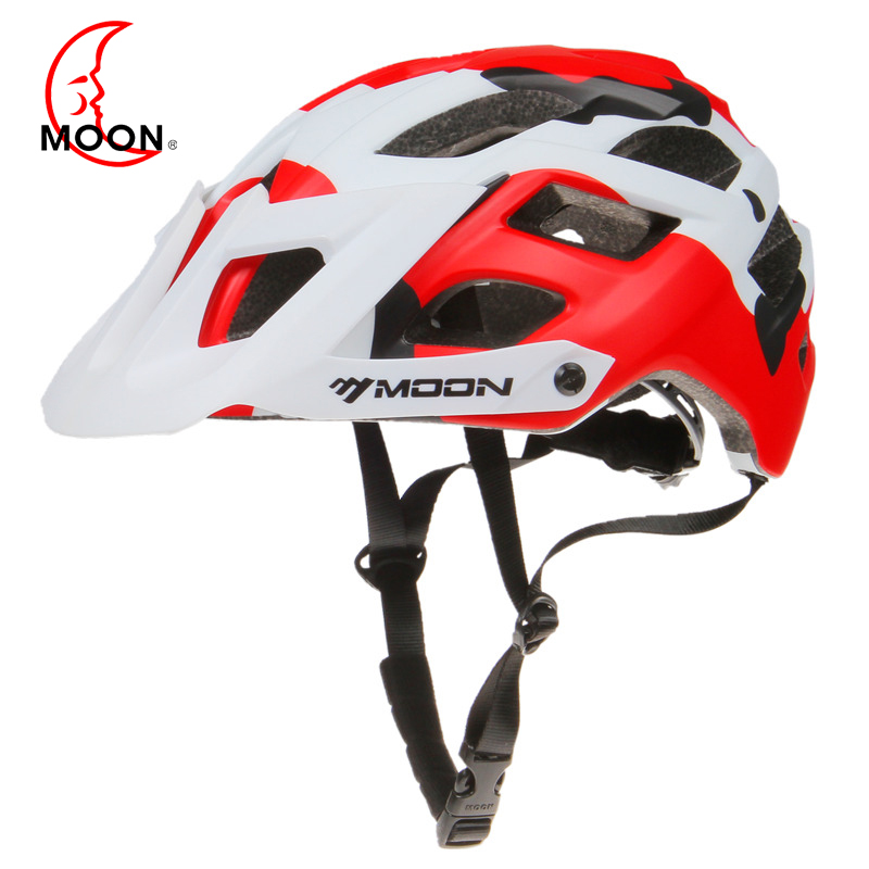 MOON Bicycle Helmet MTB Cycling Bike Sports Safety Helmet OFF-ROAD Professional Cycling Helmet For All Terrain Mountain Bike moon mv37 outdoor cycling bike helmet black golden red