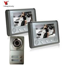Yobang Security freeship apartments video door phone intercom system for 2 floor user Building Video intercom system door bell