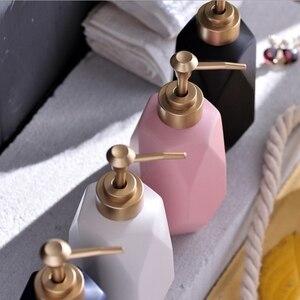 Image 5 - 1pc Nordic Creative Hand Sanitizer Bottle Ceramic Lotion Bottle Soap Dispenser Hotel Clubhouse Bathroom supplies