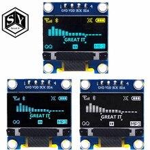0,96 дюймовый IIC последовательный желтый синий OLED дисплей модуль 128X64 I2C SSD1306 12864 плата с ЖК-экраном GND VCC SCL SDA для arduino