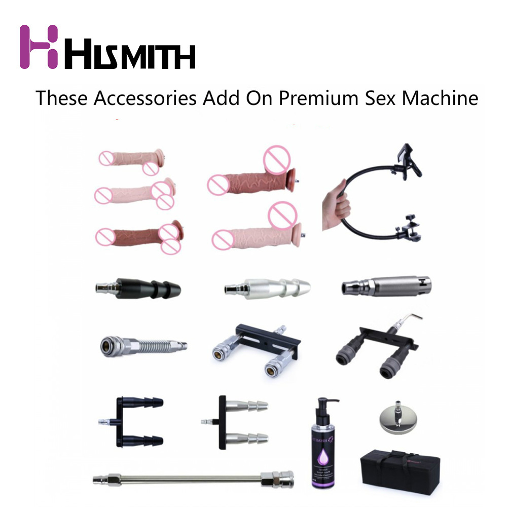 HISMITH 18 tipos Noiseless Premium Sex Machine Attachment VAC-U-LOCK Dildo ventosa Sex Love Machine para mujeres productos sexuales