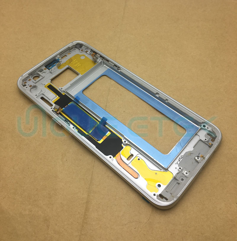 For Samsung Galaxy S7 G930 G930F Mobile Phone Plate Middle Frame For S7 Edge G935 G935F Housing Body Bezel Chassis With Adhesive image