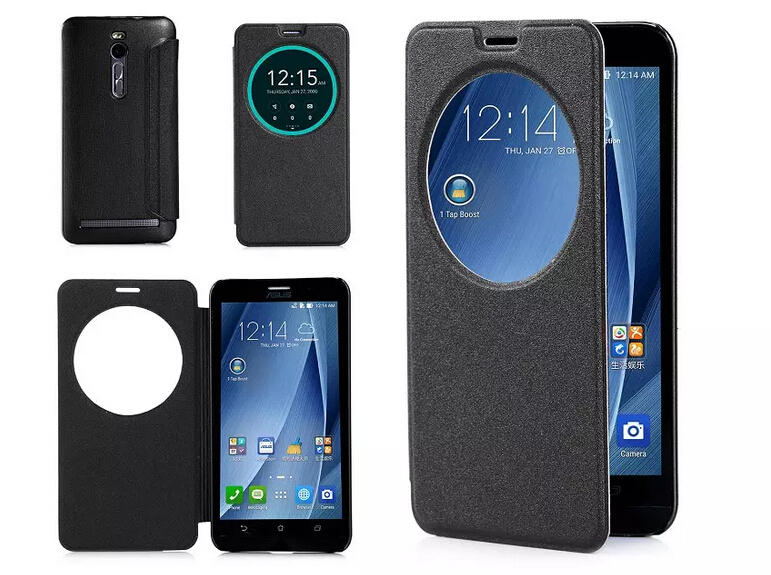 more photos edd75 9eadb US $48.8 |Smart Flip Case for ASUS Zenfone 2 5.5 Inch Leather Case with  Open Window and Smart Sleep and Wake Up Function for ASUS ze551ml on ...
