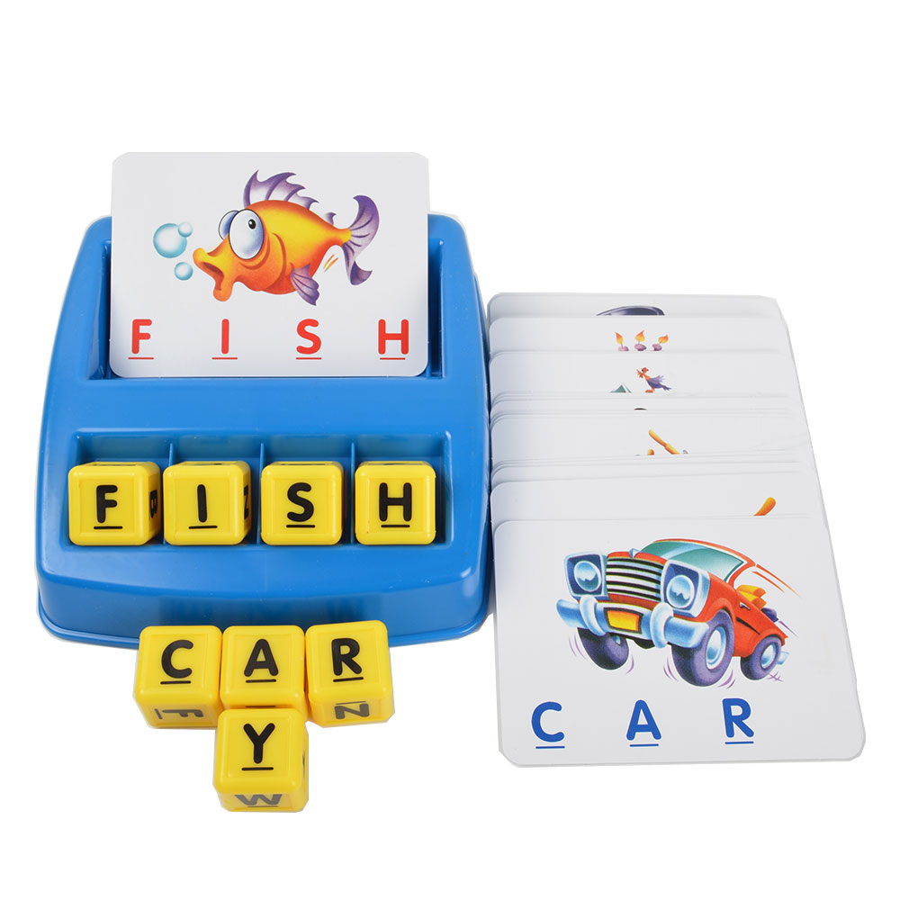 BOHS English Learning Matching Letters Blocks Card Tray Game with Instruction