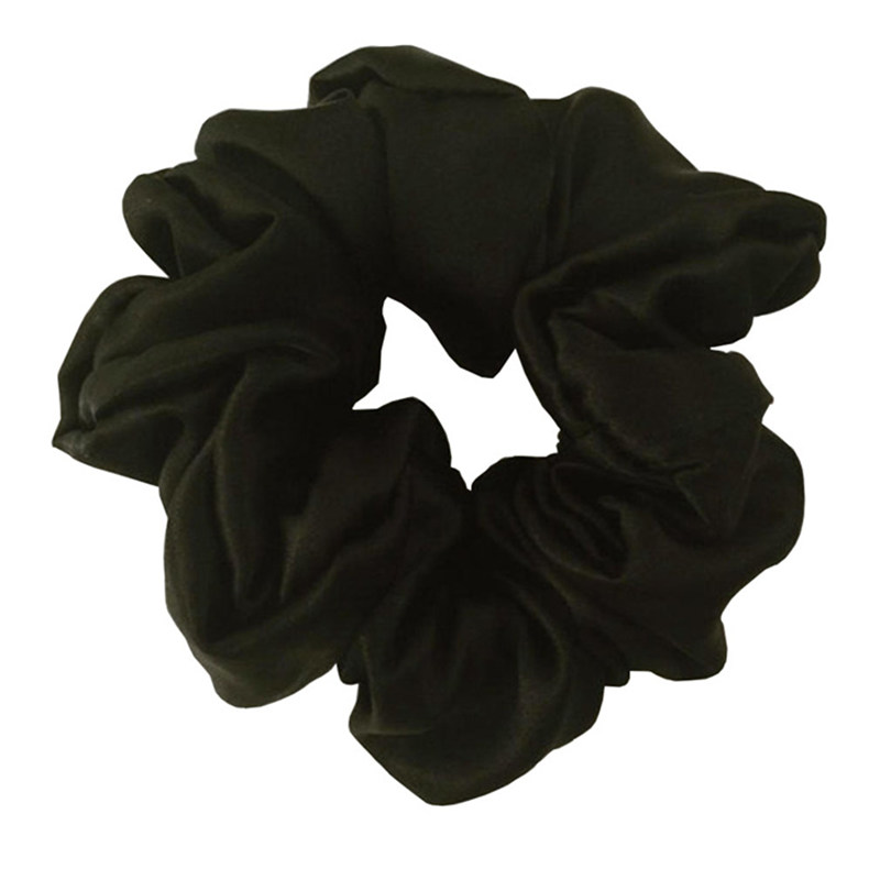 Gratis frakt 100% Pure Silk Hair Scrunchies Charm Hair Bands Mote Ponytail Hair Ties Hår Tilbehør til kvinner Girls