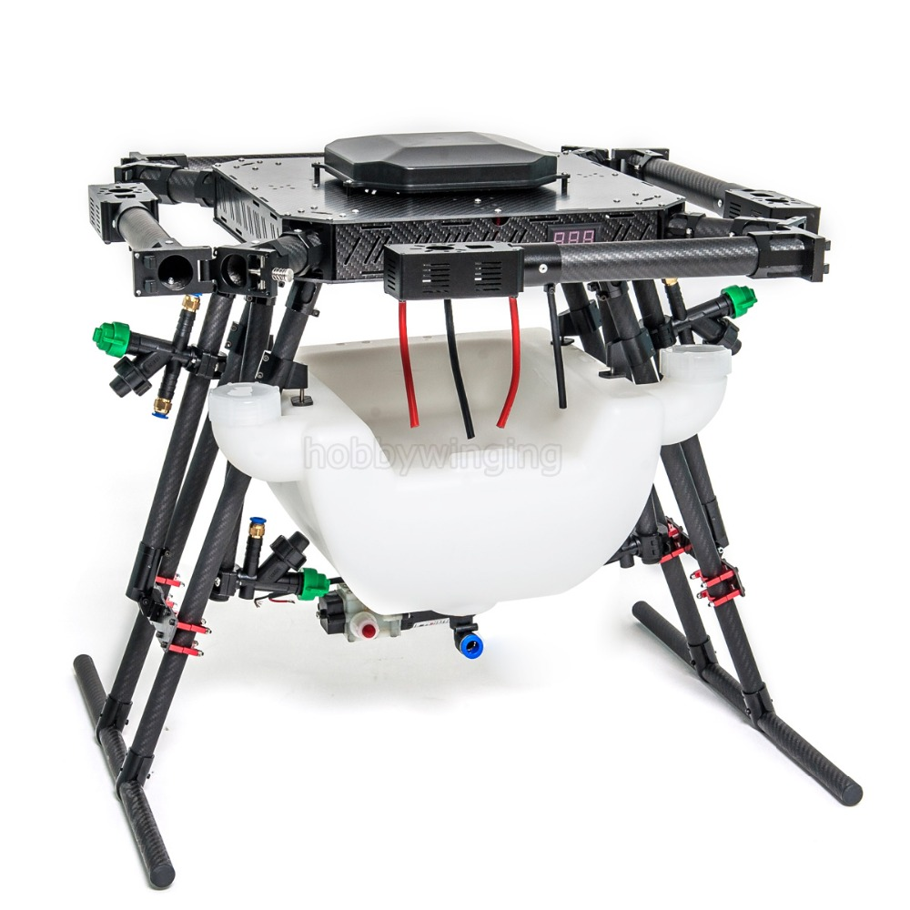 4-axis Agriculture drone with 10KG/10L spraying system 1250mm Wheelbase Folding UAV Quadcopter Aluminum alloy Motor mount 4 pcs agriculture drone water tank aluminum alloy fixed parts