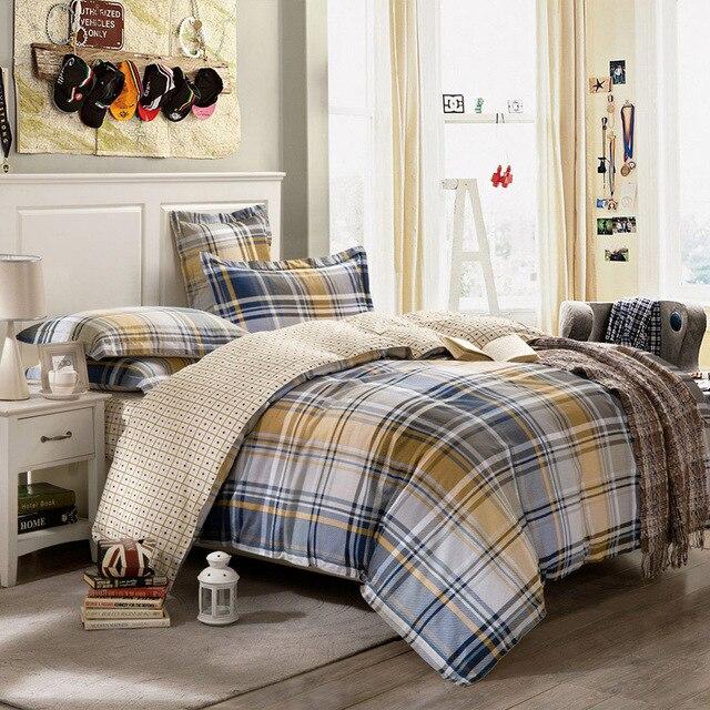 mixed color plaid stripe 100% Cotton Bedclothes Twin Queen Double ... : double size quilt - Adamdwight.com