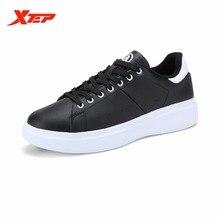XTEP Original Brand Skateboarding Shoes for Men White Rubber Athletic Sneakers Light Weight Men's Skateboard Shoes 984319319209