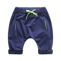 Summer Baby Girls Boys Fashion Solid Color Casual Cotton Loose Unisex Drawstring Shorts Trousers