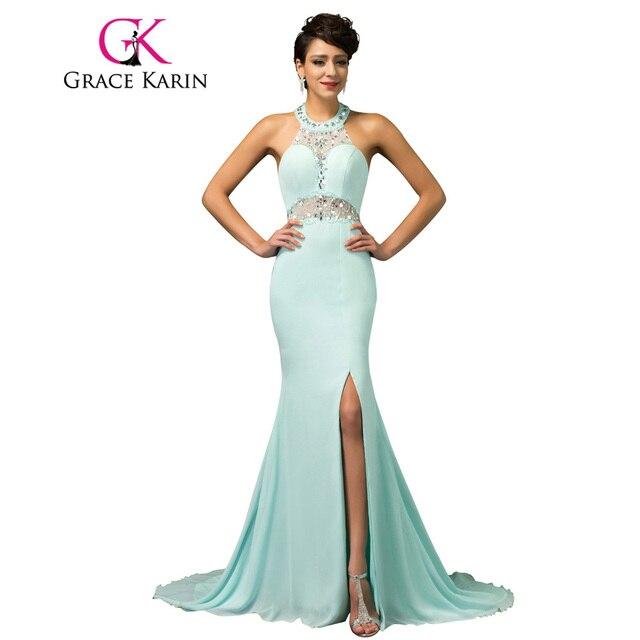 Teal Blue Elegant Evening Dress
